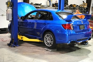 Subaru STI Corner Balancing and Alignment